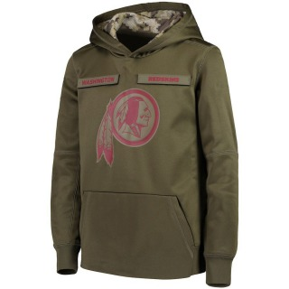 Youth Washington Redskins Nike 2018 Salute to Service Pullover Performance Hoodie - Green